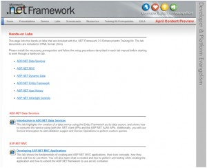 .NET Framework 3.5 Enhancements Training Kit