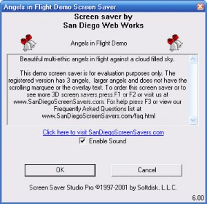 3D Angels in Flight Screensaver