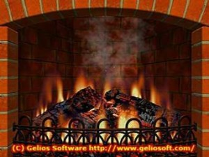 3D Realistic Fireplace Screen Saver