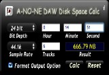 A-NO-NE DAW Disk Space Calc