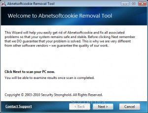 Abnetsoftcookie Removal Tool