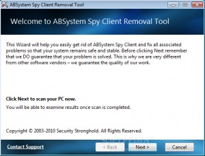 ABSystem Spy Client Removal Tool