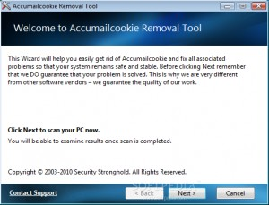 Accumailcookie Removal Tool