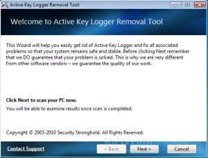 Active Key Logger Removal Tool