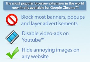 Adblock Plus for Google Chrome