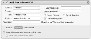 Add Aux Info to PDF
