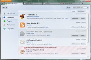 Addon Manager Firefox 4