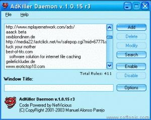 AdKiller Daemon 1.0.16 Beta
