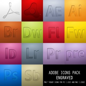 Adobe Icons Pack - Engraved