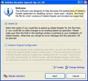 Adobe Reader SpeedUp