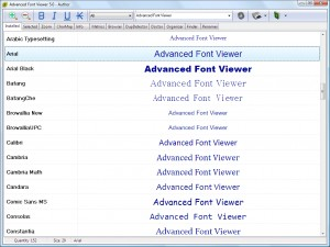 Advanced Font Viewer