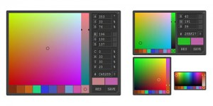 Advanced Javascript color picker