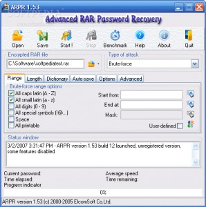 Advanced RAR Password Recovery