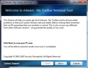 Adware . My Toolbar Removal Tool