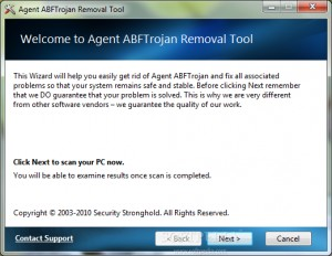 Agent ABFTrojan Removal Tool