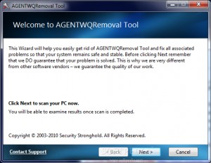 AGENTWQRemoval Tool