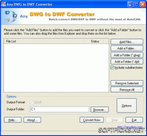 Any DWG to DWF Converter