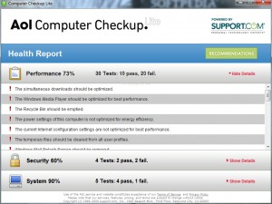 AOL Computer Checkup Lite