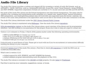 Audio File Library
