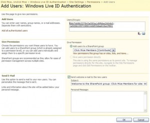 Authenticated User Community