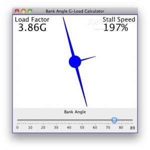Bank Angle G-Load Calculator