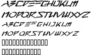 Barbed Type Font