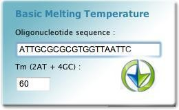 Basic melting temperature widget