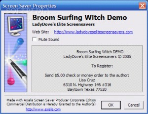 Broom Surfing Witch Demo Screensaver