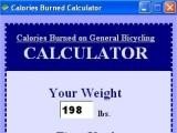 Calories Burned on General Bicycling Calculator