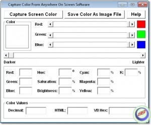 Capture Color From Anywhere On Screen Software