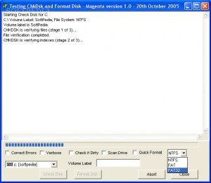 Check Disk and Format Disk Component