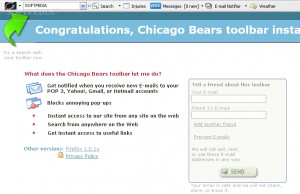Chicago Bears toolbar for IE