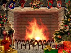 Christmas Living 3D Fireplace