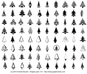Christmas Tree Custom Shapes