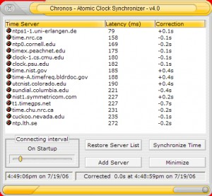 Chronos Atomic Clock Synchronizer