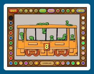 Coloring Book 6: Number Trains