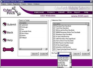 Cyberfetch Website Submitter