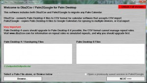 Dba 2 Csv / Palm2Google (formerly Dba2Csv)