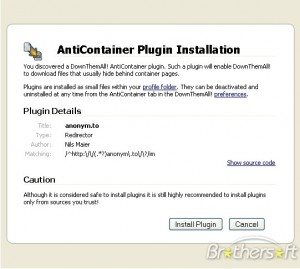 DownThemAll! AntiContainer