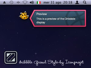 Dribbble GrowlStyle