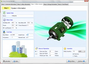 Energy Savings Estimator for AC Motor
