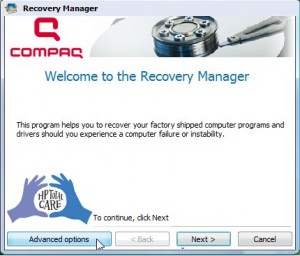 Enhanced HP Backup and Recovery Manager for Microsoft Windows Vista