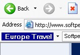 Europe Travel Toolbar for IE