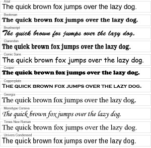 Example Fonts