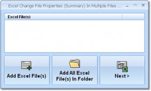 Excel Change File Properties (Summary) In Multiple Files Software