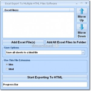 Excel Export To Multiple HTML Files Software