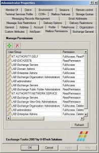 Exchange Tasks 2007