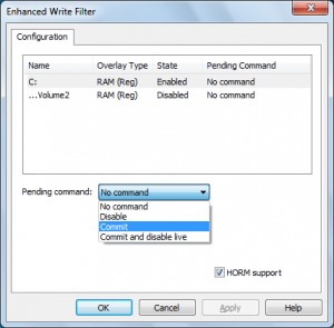 File Based Write Filter Management Tool for Windows Thin PC