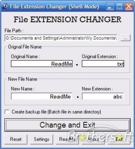 File Extension Changer