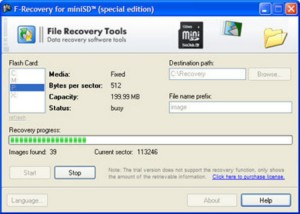 FileRecovery for miniSD